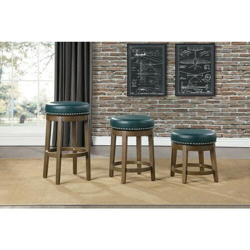 Gallery - Round Swivel Counter Height Stool, Green