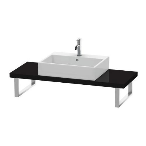 Console For Above-counter Basin And Vanity Basin Compact, Black High Gloss (lacquer)