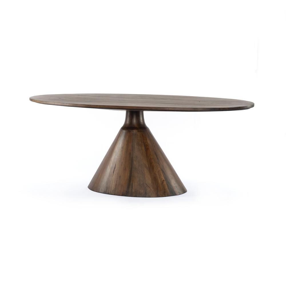 Tanner Brown Finish Bronx Oval Dining Table