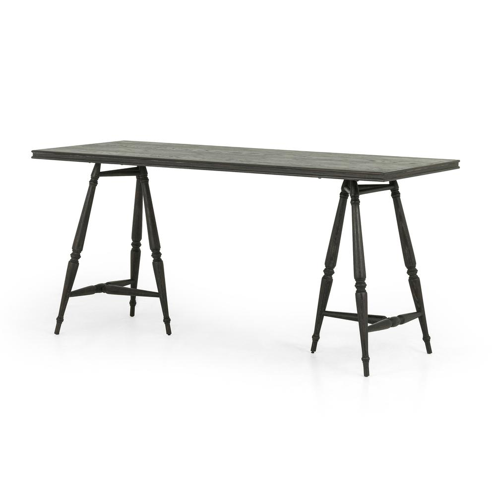Hardie Desk-distressed Black