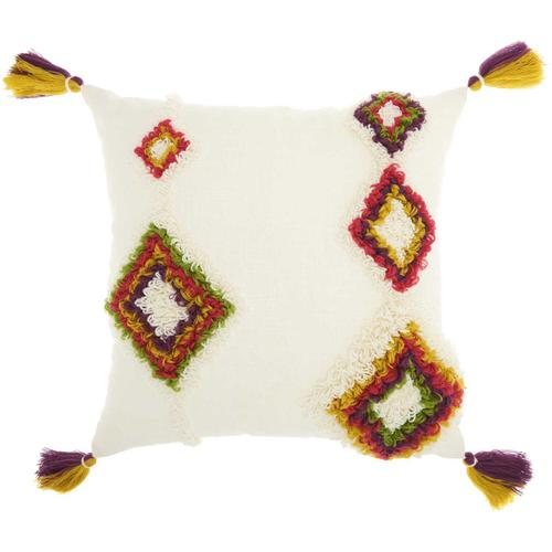 """Life Styles Ns851 Multicolor 20"""" X 20"""" Throw Pillow"""