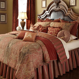 12PC. Queen Comforter Set Spice