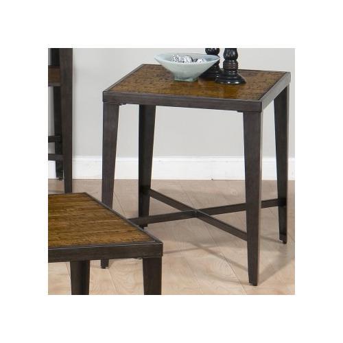 End Table W/ Faux Antique Ash