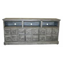 """See Details - 70"""" Charcoal Gray 2 Dr 2 Dwr TV"""
