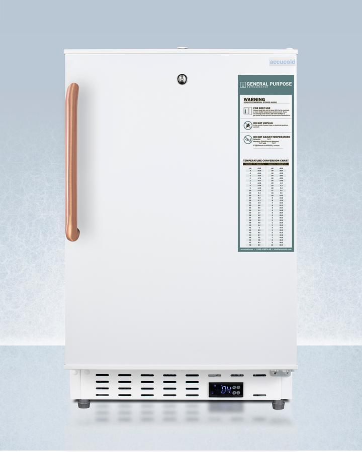 "Summit20"" Wide Built-In Healthcare All-Refrigerator, Ada Compliant"