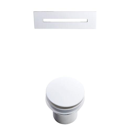 """Malinda 65"""" Acrylic Slipper Tub with Integral Drain and Overflow - White Powder Coat Drain and Overflow"""