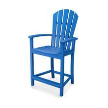 Pacific Blue Palm Coast Counter Chair