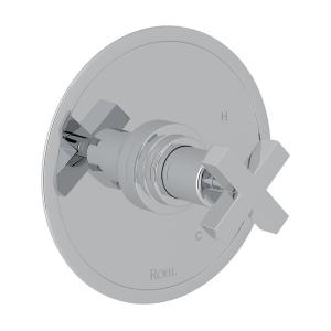 Polished Chrome Lombardia Pressure Balance Trim Without Diverter with Cross Handle Product Image