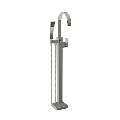 Newport Brass - Polished Nickel - Natural Exposed Tub and Hand Shower Set - Free Standing