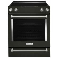 See Details - 30-Inch 5-Element Electric Convection Front Control Range - Black Stainless Steel with PrintShield™ Finish