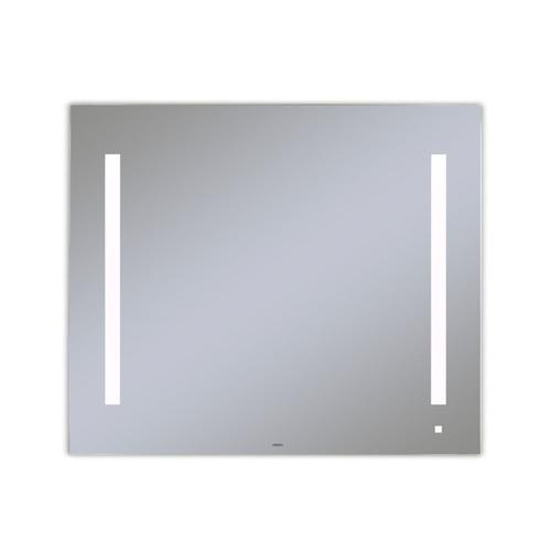 """Aio 35-1/8"""" X 29-7/8"""" X 1-1/2"""" Lighted Mirror With Lum Lighting At 4000 Kelvin Temperature (cool Light), Dimmable, Usb Charging Ports and Om Audio"""