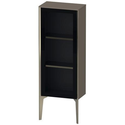 Duravit - Semi-tall Cabinet With Mirror Door Floorstanding, Flannel Gray Satin Matte (lacquer)