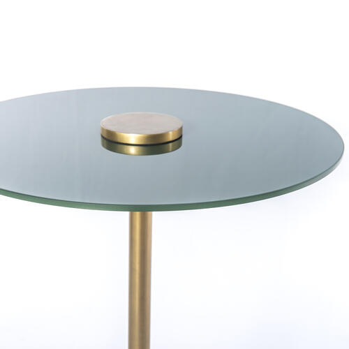 Paisley Accent Table-pine Green
