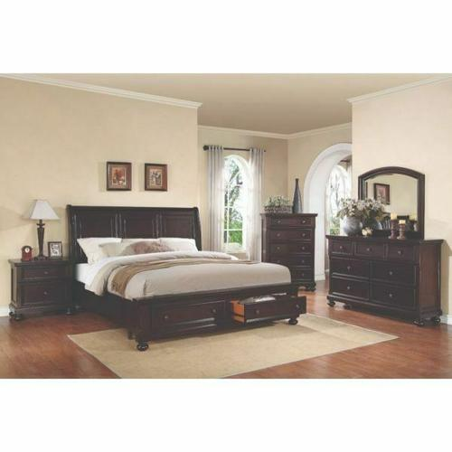 ACME Grayson California King Bed w/Storage - 24604CK - Dark Walnut