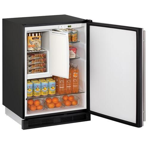"24"" Refrigerator/freezer With Stainless Solid Finish (115 V/60 Hz Volts /60 Hz Hz)"