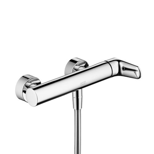 Chrome Single lever shower mixer for exposed installation
