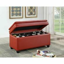 ACME Nitsa Bench w/Storage - 96442 - Wine PU