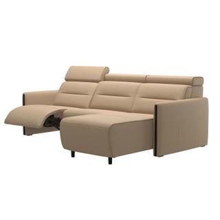 See Details - Stressless® Emily 2 seater Long Seat with left motor arm wood