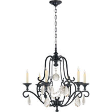 View Product - E. F. Chapman Piedmont 6 Light 32 inch Aged Iron Chandelier Ceiling Light