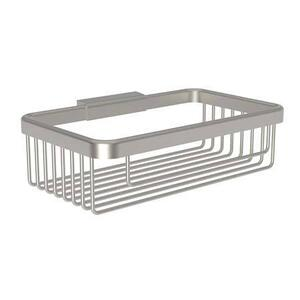 "Satin Nickel 8"" Deep Toiletry Basket"
