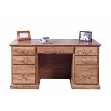 See Details - Forest Designs Traditional Desk: 60W x 30H x 28D - 60w