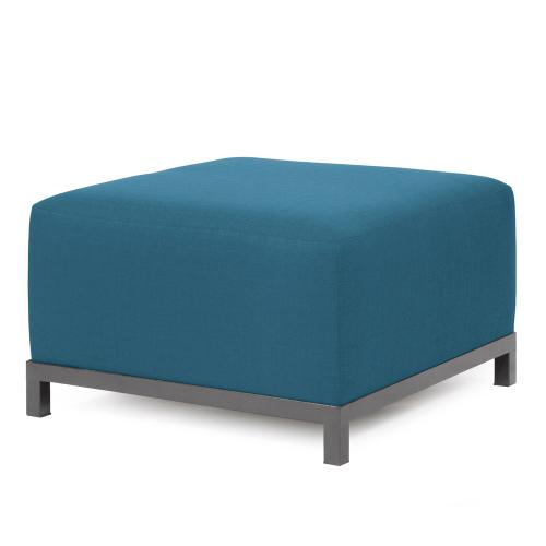 Axis Ottoman Seascape Turquoise Slipcover (Cover Only)