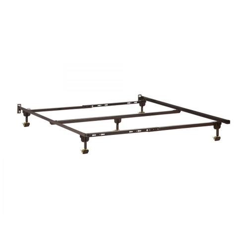Metal Bed Frame T-TXL-F-Q with Rollers