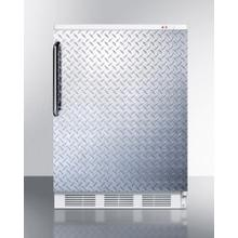 Commercial Built-in Medical Freezer Capable of -25 C Operation, With Diamond Plate Door and Towel Bar Handle