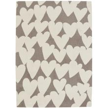 Sweet Treats-Hearts Grey Machine Tufted Rugs