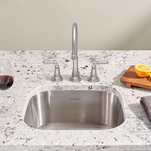 American Standard - Portsmouth Undermount 18x16 Single Bowl Kitchen Sink  American Standard - Stainless Steel