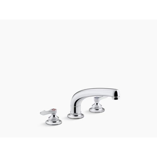 """Polished Chrome 1.5 Gpm Kitchen Sink Faucet With 8-3/16"""" Swing Spout, Aerated Flow and Lever Handles"""