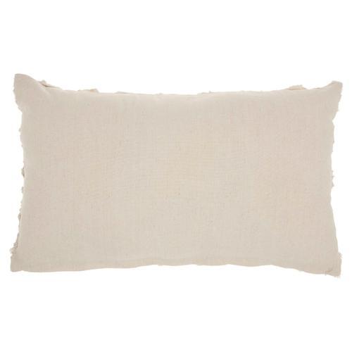 "Life Styles L0163 Beige 14"" X 24"" Throw Pillow"