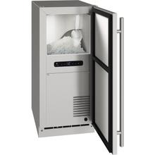 """See Details - Outdoor Collection 15"""" Nugget Ice Machine With Stainless Solid Finish and Field Reversible Door Swing (115 Volts / 60 Hz)"""