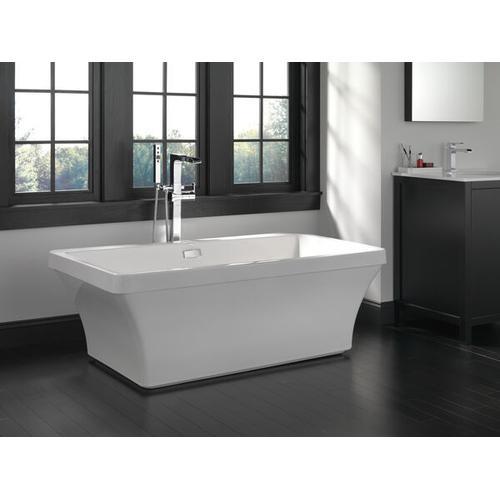 Chrome Single Handle Channel Bathroom Faucet