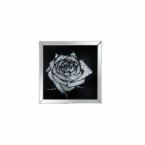 ACME Nevina Wall Art - 97320 - Mirrored & Crystal Rose