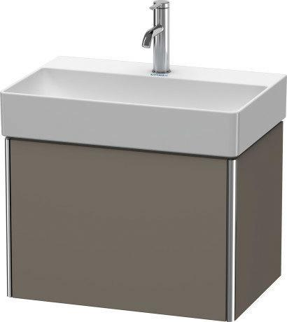 Product Image - Vanity Unit Wall-mounted Compact, Flannel Gray Satin Matte (lacquer)