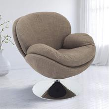 See Details - Scoop Leisure Accent Chair in Khaki Fabric