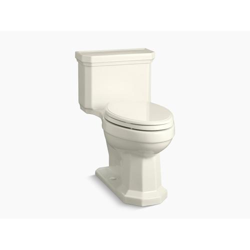 Kohler - Biscuit One-piece Compact Elongated 1.28 Gpf Chair Height Toilet With Right-hand Trip Lever, and Slow Close Seat