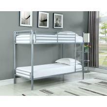Boltzero Contemporary Silver Twin Bunk Bed