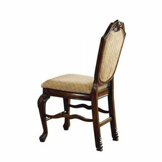 ACME Chateau De Ville Counter Height Chair (Set-2) - 64084 - Espresso