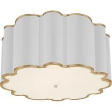 Alexa Hampton Markos 4 Light 26 inch White with Gild Flush Mount Ceiling Light, Grande