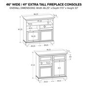 FT46C Extra Tall Fireplace Custom TV Console Product Image