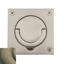 View Product - Satin Brass and Black Flush Ring Pull