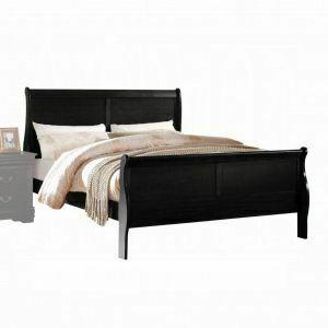 ACME Louis Philippe Eastern King Bed - 23727EK - Black