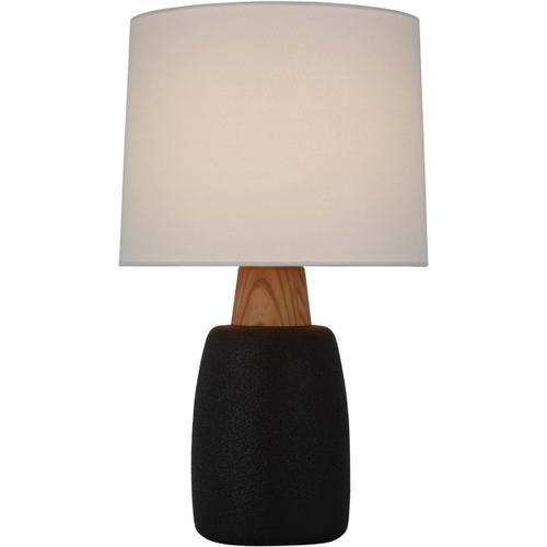 Barbara Barry Aida 29 inch 15.00 watt Porous Black and Natural Oak Table Lamp Portable Light, Large