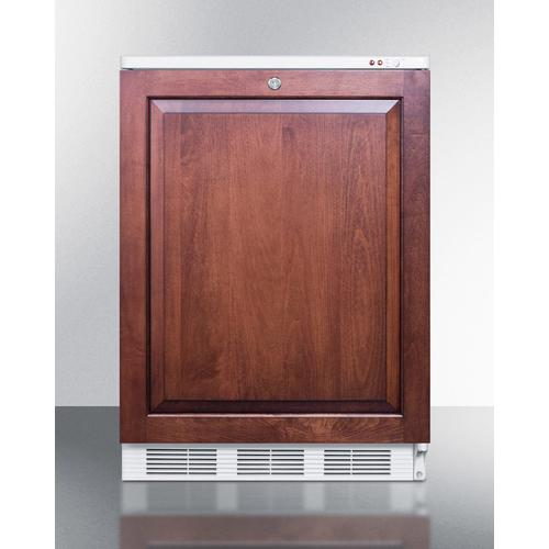 Summit - Commercial Built-in Medical All-freezer Capable of -25 C Operation With Front Lock; Door Accepts Full Overlay Panels