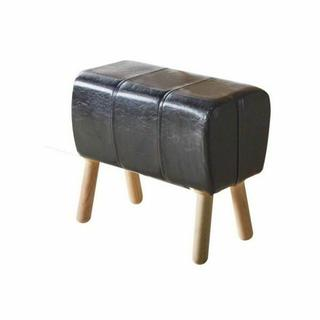 ACME Dessa Stool (1Pc) - 72132 - Black PU & Natural