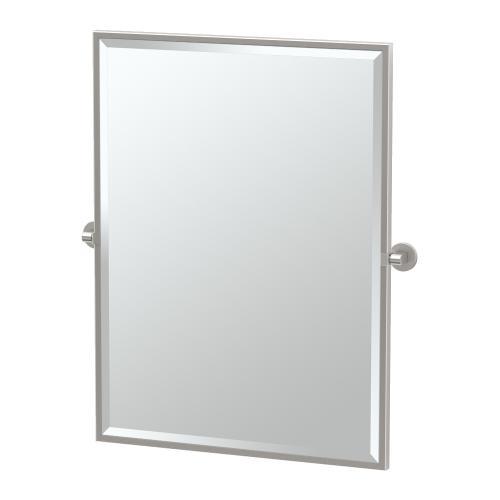 Zone Framed Rectangle Mirror in Satin Nickel