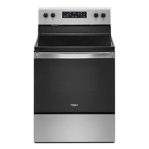 Whirlpool  5.3 cu. ft. Whirlpool® electric range with Frozen Bake technology.