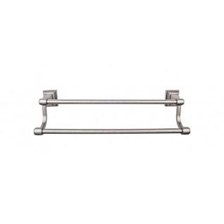 Top Knobs - Stratton Bath Towel Bar 18 Inch Double - Antique Pewter